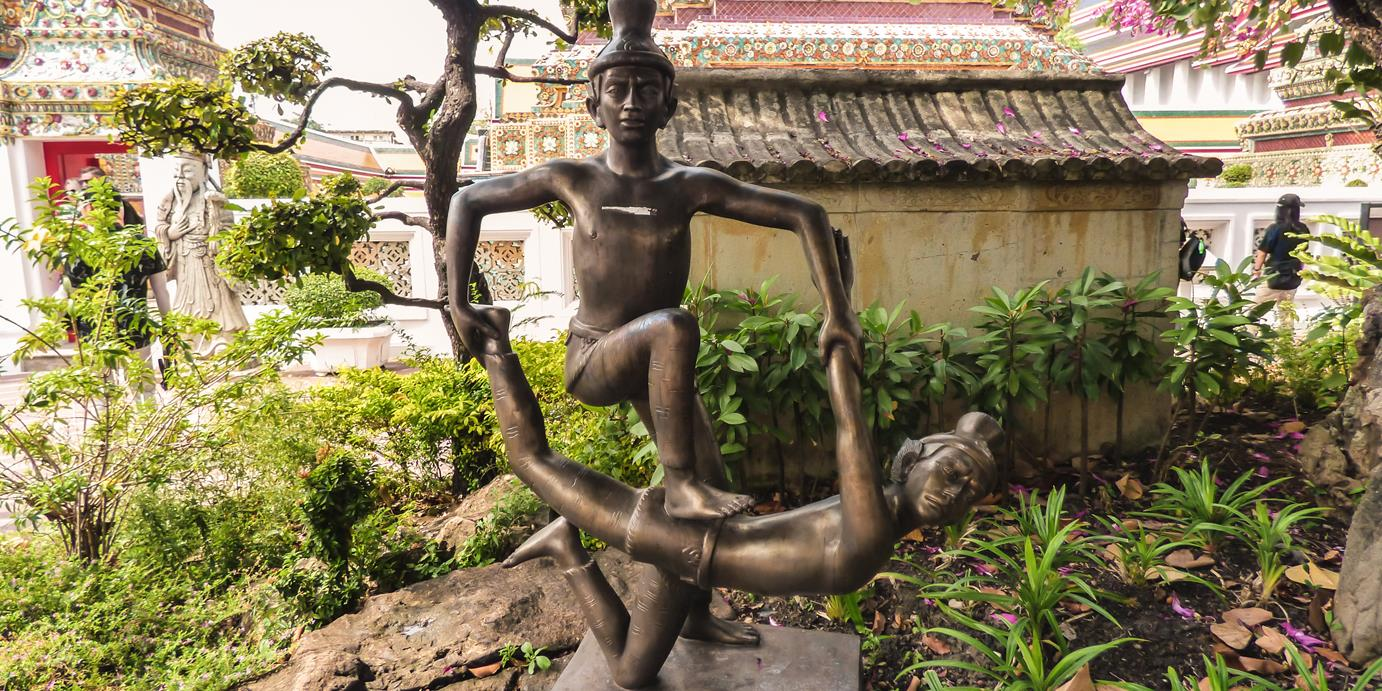 Thai Massage statue on Wat Pho temple grounds
