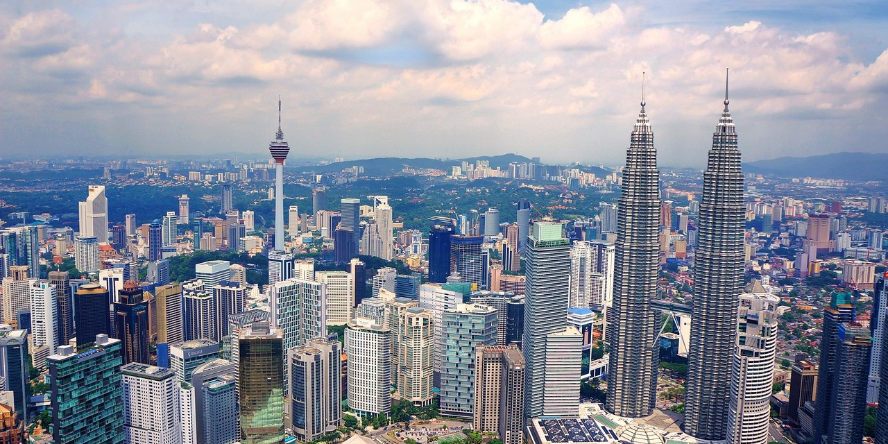 The Skyline of Kuala Lumpur, Malaysia's capital