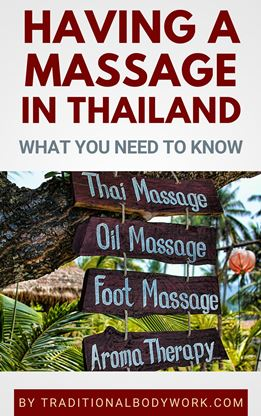 Book - Having a Massage in Thailand
